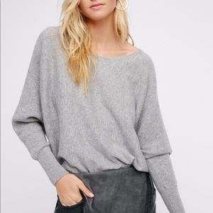 Free People Too Little Too Late Cashmere Dolman M
